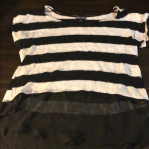 Wet Seal Size Large Sweater with sheer bottom